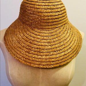 Accessories - Vintage Straw Garden Hat With Bow